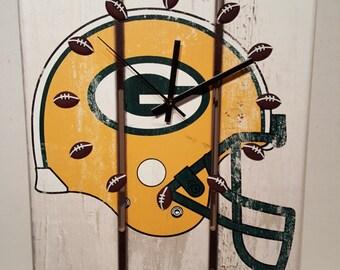 Clock / Green Bay  Clock / Novelty Clock / Football Clock / Wall Art / Housewares / Handmade