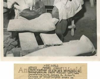 Man in sculpture studio antique art photo