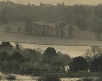England haze country landscape vintage art photo by Russ Kinne