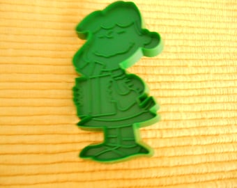 United Features Syndicate Vintage 1950s Green Lucy van Pelt Cookie Cutter, Peanuts Character