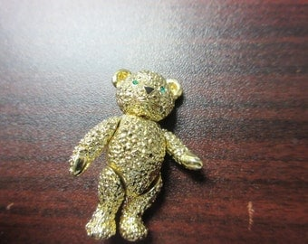 Articulated Bear Pin Brooch