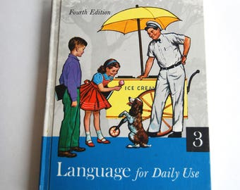 Vintage Children's Book, Language for Daily Use