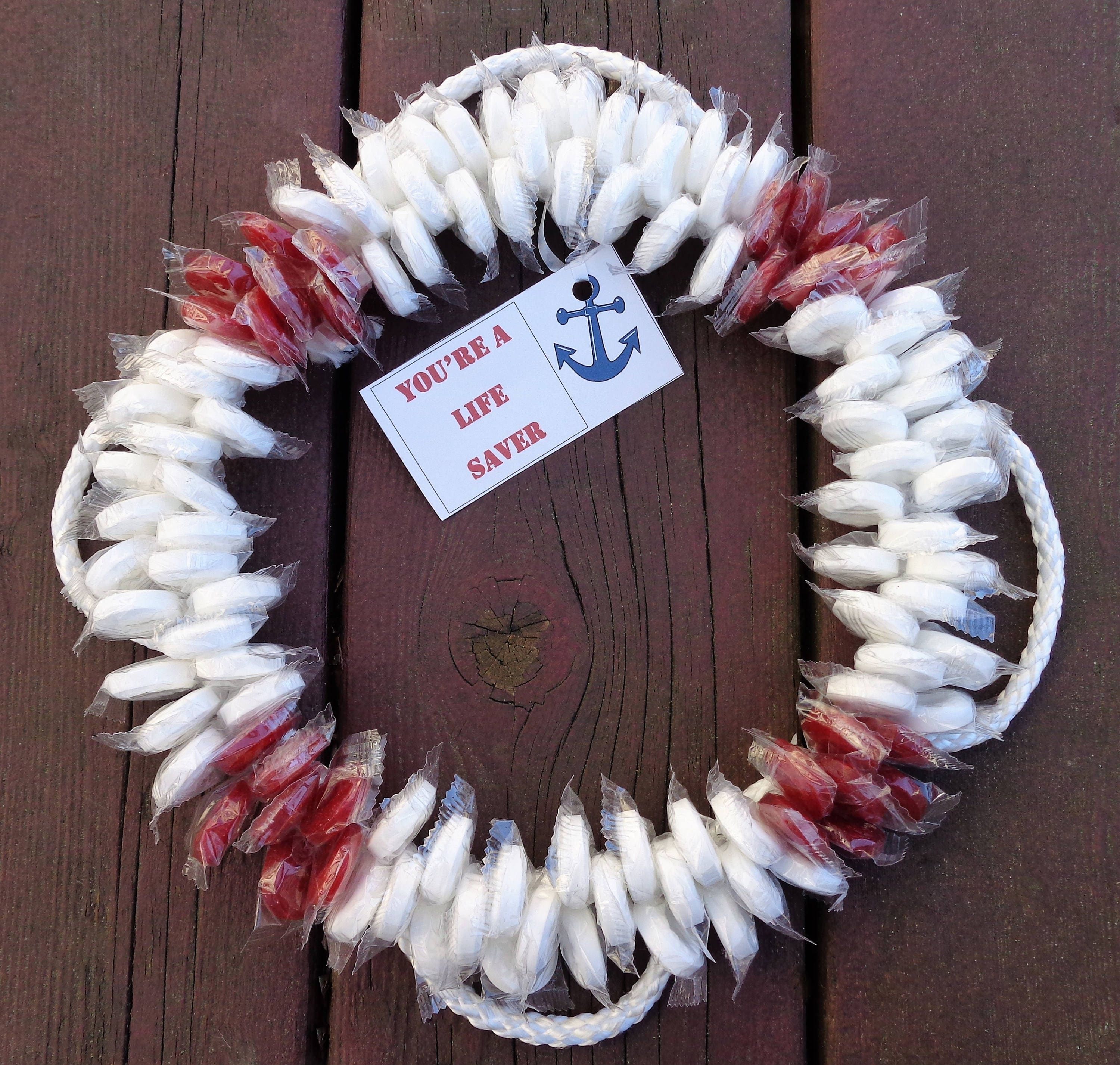 Welcome aboard boat ships life ring clock - Details Life Saver Ring Party Wreath Thank You Gift Navy Candy Welcome Aboard
