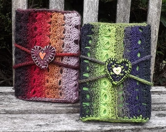 Broomstick Crochet Lace A5 Journal / Note book with cover