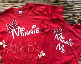 Minnie and Minnie Me Shirts | Mom and daughter Shirts | Mom and daughter Disney Shirts | Matching Mother Daughter Shirts | Minnie Mouse