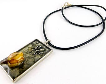necklace, resin, Gothic, Goth
