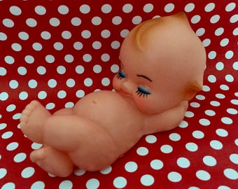 Vintage Kewpie Doll, Sleeping Kewpie Doll, Kewpie Laying On Back, Resting Kewpie Doll, Kitschy Doll, Vintage Baby Nursery, Vintage Baby Show