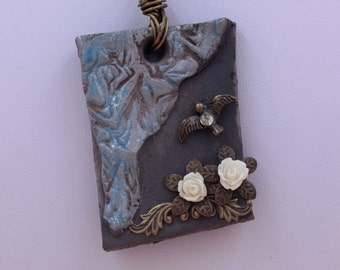 collana ceramica raku/gioielli ceramica/regalo per lei