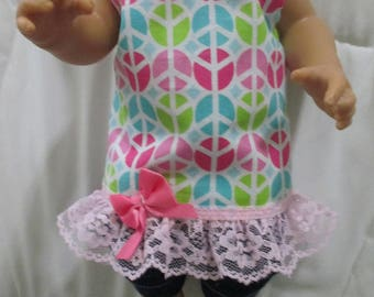 """Two Piece Dolll Clothes Pants & Top 12-13"""" Dolls Baby Alive+ Other Baby Dolls"""