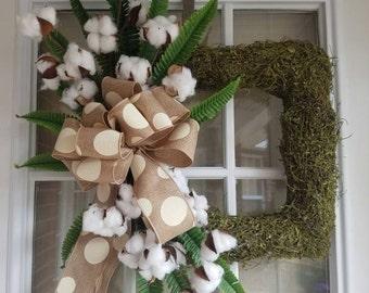 Cotton Moss Wreath