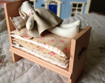 Princess and the Pea - decorative soft toy - hare - bunny