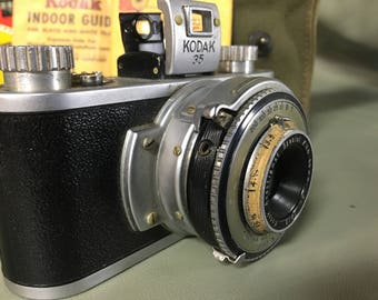 Vintage Kodak Camera With cloth satchell
