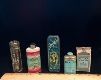 4 Antique Tins- Collection