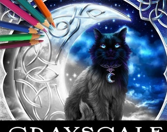 Celtic Magick Grayscale Coloring Book
