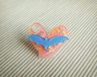 Kawaii bat brooch