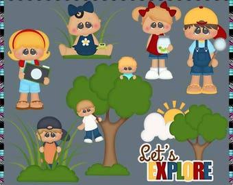 Outdoor Explorers - Instant Download - Commercial Use Digital Clipart Elements Graphics Set