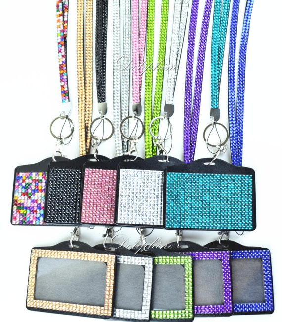 New Multi Colors Rhinestone Lanyard With Full Bling