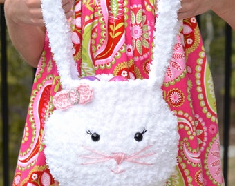 Crochet Pattern: Pipsqueak Bunny Bag **Permission to Sell Finished Items INSTANT DOWNLOAD