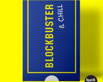 Blockbuster and Chill Greeting Card
