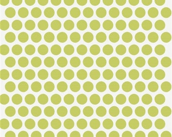 Dottie Grass Poplin from the Mod Basics Collection for Birch Fabrics, Quilting Cotton, Organic Poplin - Half Yard or By the Yard