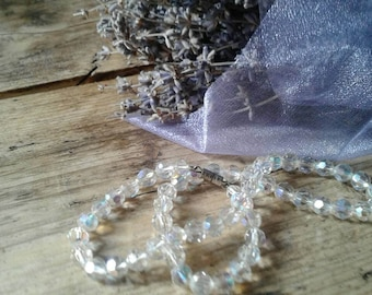 Pretty vintage crystal bead necklace 1920s