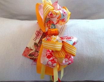 Yellow and Red hard headband