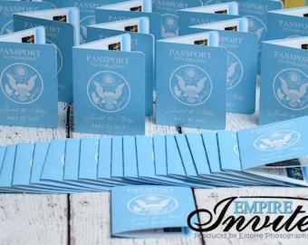 Destination Wedding Invitations -  Handmade Custom Passport invitation by  ---- www.empireinvites.ca ---