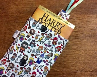 Harry Potter book sleeve, Harry Potter book saver, Harry Potter book protector, book cover, hardcover book protector