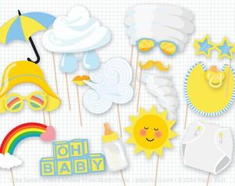 My Little Sunshine Baby Shower, Photo Booth Props, Photobooth Props, Baby Shower Prop, Boy Baby Shower, Baby Boy, New Baby, Sunshine Party