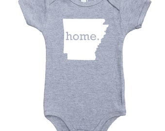 Homeland Tees Arkansas Home Unisex Baby Bodysuit