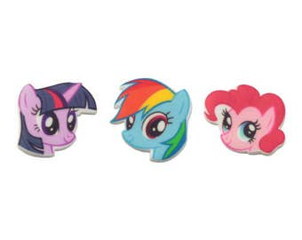 My Little Pony 12 pc SUGARSOFT Edible Printed Cake / Cupcake Topper Decorations