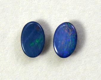 Australian Opal Doublet Cabochon Lot - .6 cts