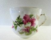Pink Flower Tea Cup Vintage Bavaria Porcelain Cup