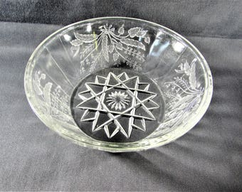 Wheat and Barley Bowl Bryce Brothers Glass EAPG Duquense
