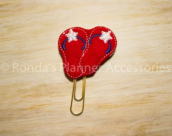 Red White and Blue Flip Flops Planner Clip