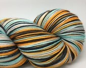 Self striping sock yarn- George Glass. colorway