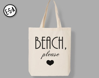 BEACH PLEASE Market Tote.