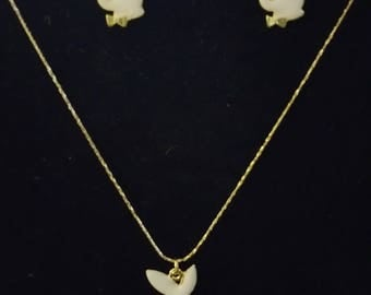Inspired by Playboy Gold and White Bunny Jewelry Set