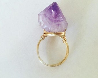 Amethyst ring / made to order / statement