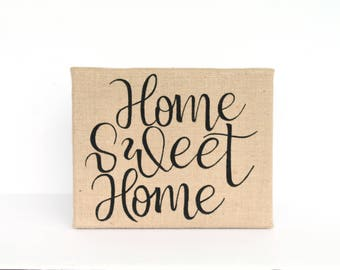 Rustic Country Home Decor - Burlap - Country Home Decor - Home Sweet Home