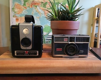 Vintage Kodak Camera Lot - Brownie Hawkeye and Instamatic 304