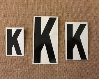 Vintage Metal Unitype Letter K