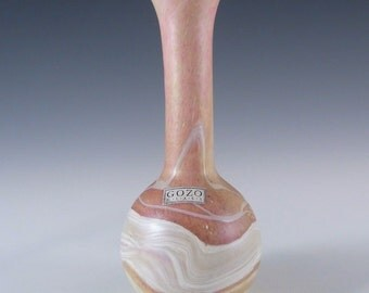 Gozo Maltese Glass 'Sunshine' Vase - Signed + Labelled #2