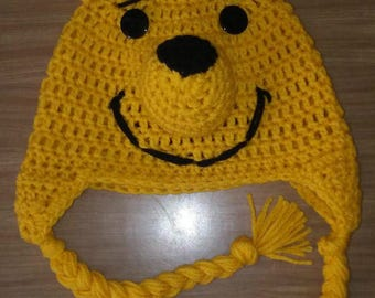 Winnie the Pooh, Crochet Hat, Pooh Bear, Character Hat, Photo Prop, Photography Prop, Handmade Hat, Animal Hat, Bear Hat, Winter Hat