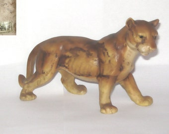 UCTCI Japan Lion Lioness Porcelain Wild Cat Animal Figurine Standing African Safari Savannah
