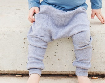 Baby Boy Clothes - Baby Leggings <<8 Days Delivery To US>> Organic Baby Clothes, Newborn Boy Pants, Baby Harem Pants, Baby Leggings - Denim