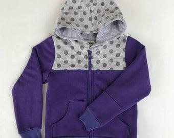 Kids Purple Hoodie Size 2