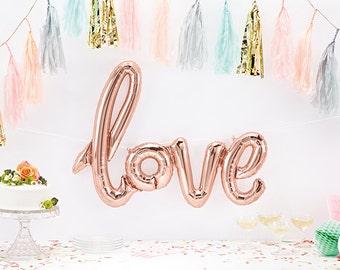 Rose Gold Script Love Balloon Kit