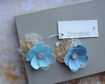Wedding hair pins Blue Headpiece Wedding Hair Flower Burgundy Flower Hair Pins Prom Headpiece Bridesmaid Hair Flowers  Rustic Wedding