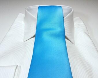 SILK Tie (3 inch or 2 inch) in Malibu Blue